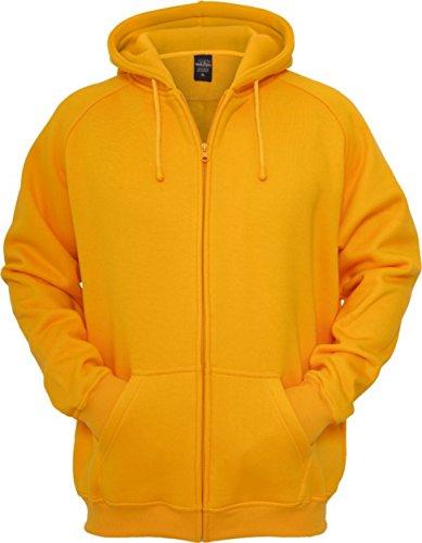 Urban Classics Herren Kapuzenpullover Zip Hoody Orange