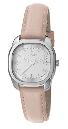 Joop Nude Kiss Women's Quartz Watch with White Dial Analogue Display and Pink Leather Strap JP101832001