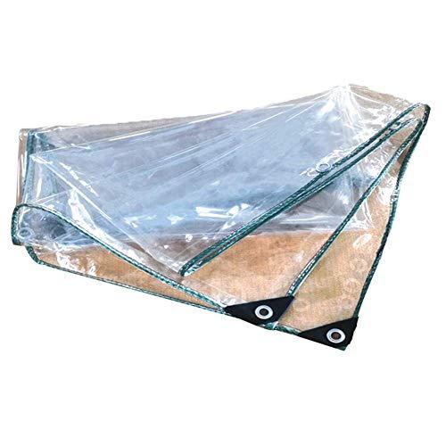 YiNuo Persenning Transparent Eindickung Außen Regen Schutz Sonnenschutz wasserdichte Folie Tuch eingegossenes Kabel PVC, 16 Größen Plane (Color : Clear, Size : 2x6m)