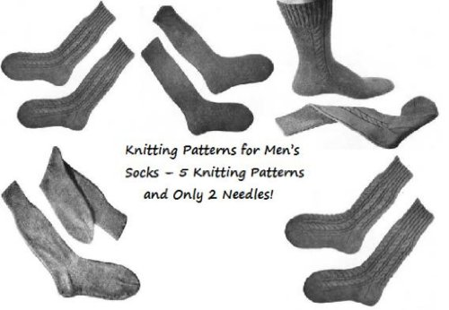 Padrões de confecção de malhas para homens meias – apenas 2 agulhas e 4 padrões de tricô! (Portuguese Edition)