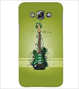 SAMSUNG GALAXY E7 GREEN GUITAR Designer Back Cover Case By PRINTSWAG