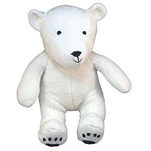 Peluche ours polaire velours coton bio