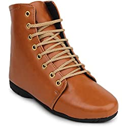 Beautiful Tan color Synthetic women's boots from Sheneya::AB_TAN_38