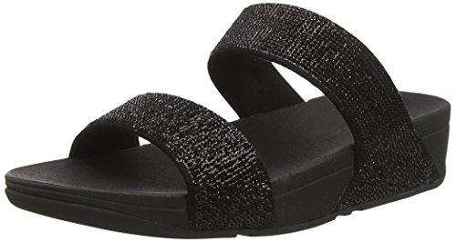 Mulheres Electra Fitflop Sandálias Micro Slide Black (preto)