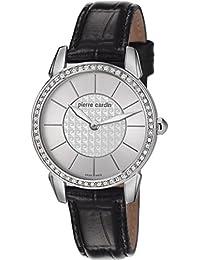 Pierre Cardin Damen-Armbanduhr Petit Soleil Analog Quarz Leder