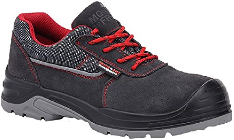 Paredes sm5061 Gr42 Beta – Zapatos de seguridad S1P talla 42 color gris/rojo
