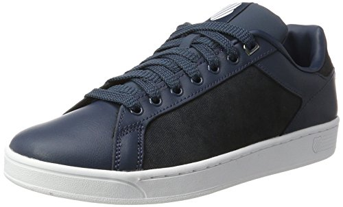 K-Swiss Herren Clean Court CMF Sneaker, Blau (Midnight Navy/White), 47 EU (Schuhe Midnight Navy)