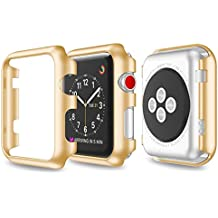 so-buts nueva ultra-slim Electroplate 3 de la serie PC funda carcasa rígida para Apple Watch 38 mm/42 mm, dorado
