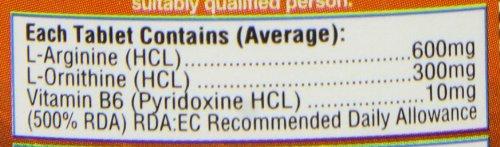 41MYYjDbe7L - HealthAid L-Arginine with L-Ornithine 300mg - 60 Tablets