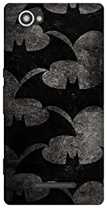 The Racoon Grip Bat Pattern hard plastic printed back case / cover for Sony Xperia M