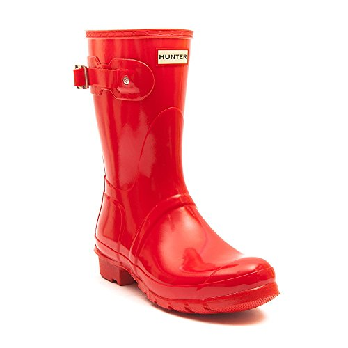 Hunter Wellies Original Short Gloss Bright Coral Bright Coral