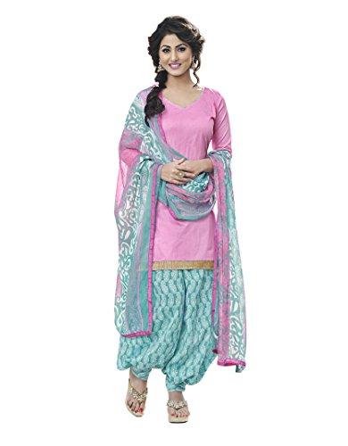 Miraan Women's Cotton Dress Material (Rani9003_Pink)