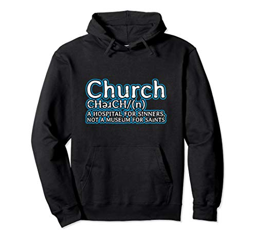 Anti-Church Hospital for Sinners Atheist Anti-Religion Pullover Hoodie
