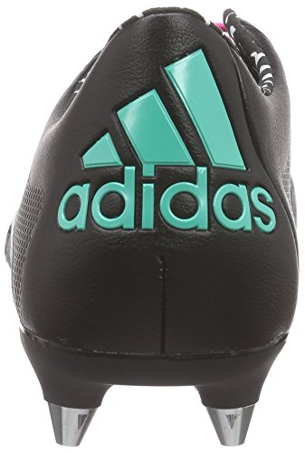 adidas X 15.1 Sg Leather, Chaussures de Football Compétition Homme, Schwarz Schwarz (Core Black/Shock Mint S16/Ftwr White)