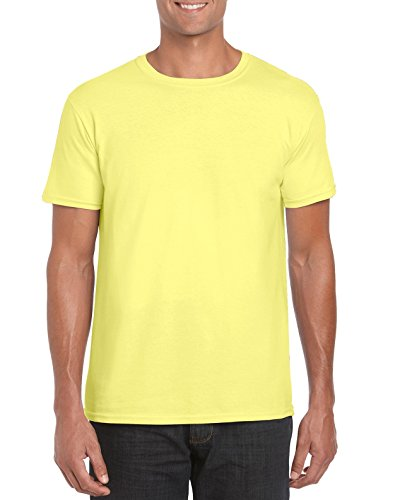 GILDAN -T-shirt  Uomo Medium,Cornsilk