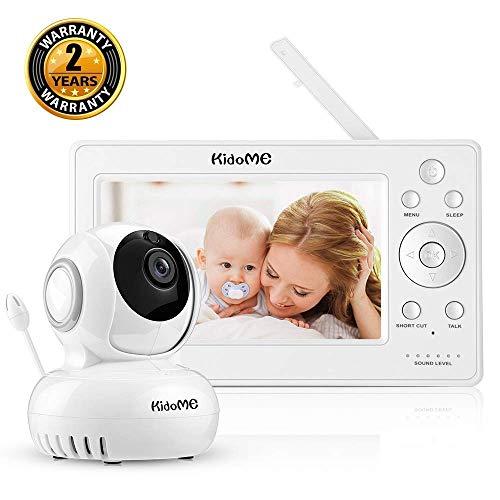 KidoMe Video Baby Monitor Cámara 1280 * 720P 5'LCD Videocamera Baby Monitor Audio Bidirezionale Visione Notturna Monitoraggio della Temperatura