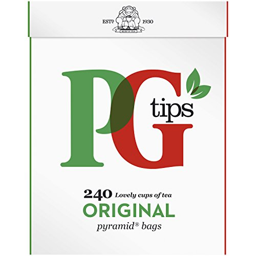 PG Tips Original Pyramid Tea Bags (Pack of 1, Total 240 Tea Bags)