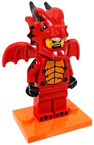LEGO 71021 SERIES 18, #7 RED DRAGON SUIT GUY MINIFIGURE