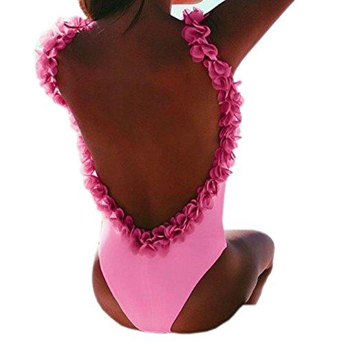 Bayaya Damen Bikini-Set Gr. X-Large, rose (Badeanzug Terry Cover Up)
