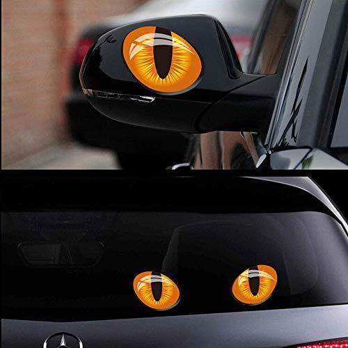 CFHJN Home 1 para 3D Katzenaugen Aufkleber Autofenster Rückspiegel Reflektierende Dekorabziehbilder für Ford Mercedes-Benz BMW Volkswagen Passat Audi Diesel Cabrio ☆ 10x8 cm (Color : 10x8cm)