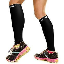 Entablillados dowricks compresión manga - hombres y mujeres - apoyo las medias para correr baloncesto - mallas ciclismo mejor rivalidades tribales calcetines - circulación para corredores terneros