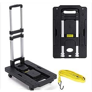41MYdmTqSkL. SS300  - Carro de la compra plegable con escalera, carretilla para escaleras, carretilla para escaleras, hasta 200 kg, plegable, 6 R, color negro