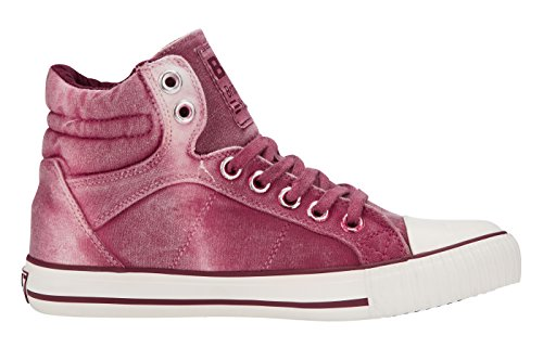 British Knights DEE DONNE ALTE SNEAKERS Borgogna