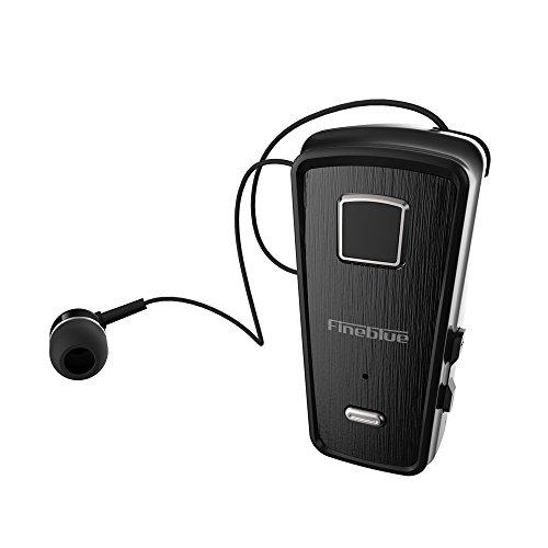 Docooler Fineblue F980 Auriculares con Clip Bluetooth 4.0 Auriculares con  Cable Retráctil Auriculares de Música Estéreo c2ca54e22eeb