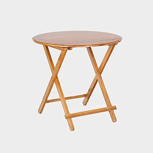 Table pliante réglable Table Ronde/Table à thé Pliante/Bureau de Livre/Bureau d'ordinateur/Table Multi-usages Peut être tourné (Taille : 70 * 70 * 52CM)