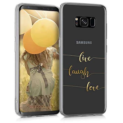 kwmobile Samsung Galaxy S8 Hülle - Handyhülle für Samsung Galaxy S8 - Handy Case in Gold Transparent