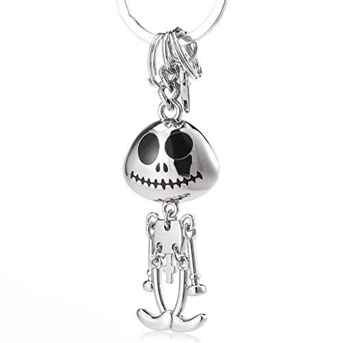 CKH Schöne Skeleton Mann Und Frau Auto Schlüsselanhänger Ring Kreative Anhänger Tasche Schultasche Rucksack Anhänger Silber (Männer Skeleton Ringe)