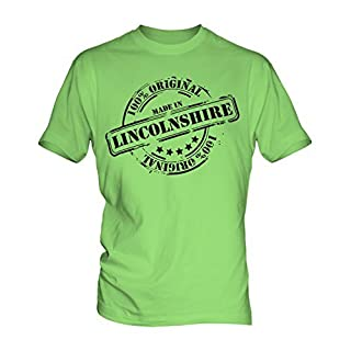 Made In Lincolnshire - Mens T-Shirt Top, Size 2X-Large, Colour Sour Lime