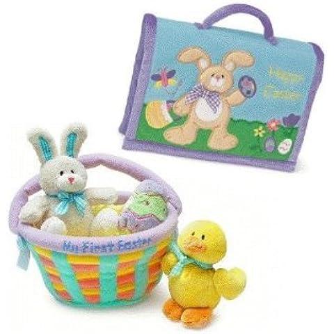 El regalo de Pascua mi punto de cruz para niños de la cesta de la y álbum de fotos en diferentes tonos conjunto de