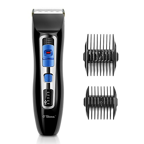 Haarschneider O'vinna Gesichtshaartrimmer Körperpflege Edelstahl Haarscherer tragbare elektrische Haarschneidemaschine Haar Klipper Hair clipper Cleaner Removal Shaver (schwarz)