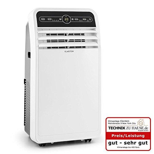 Klarstein Metrobreeze 9 New York Climatiseur Mobile 3-en-1 (9000 BTU/h, minuterie et kit d'isolation pour fenêtre, Fonctions Ventilateur et deshumidificateur) - Blanc