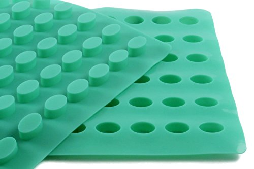 O 'creme Oval Candy Tablet Silikon Form für Schokolade Trüffel, canache, Jelly, Pralinen, und Servieren -