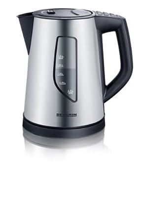 Severin - 3342 - Bouilloire - 2200 W - 1,5l. - 4 températures - noir / inox brossé