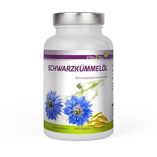 Schwarzkmmell Pure 400 Softgel Kapseln Kaltgepresstes Gyptisches Schwarzkmmeloel Premium Qualitt Made In Germany