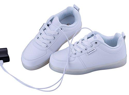 f323fcf98f ... Angin-Tech LED Schuhe 7 Farbe USB Aufladen LED Leuchtend Sport Schuhe  Sportschuhe LED Sneaker ...