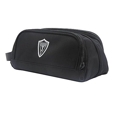 Damero Schwarz Universal Organiser Tasche mit Doppelschicht Sporttasche Tragtasche für Reise zum Ladegrät/Eletronisches Zubehör für Reiseorganisator