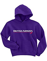 Naughtees clothing British Airways hoodie. The classic Britiah Airways logo from years gone by on a warm poly cotton hoodie.