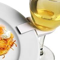 drinkstuff - Clips para sujetar platos a la copa de vino (4 unidades, ideal para buffet)