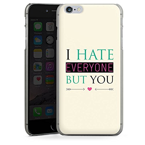 Apple iPhone X Silikon Hülle Case Schutzhülle Spruch Love Hate Herz Hard Case anthrazit-klar