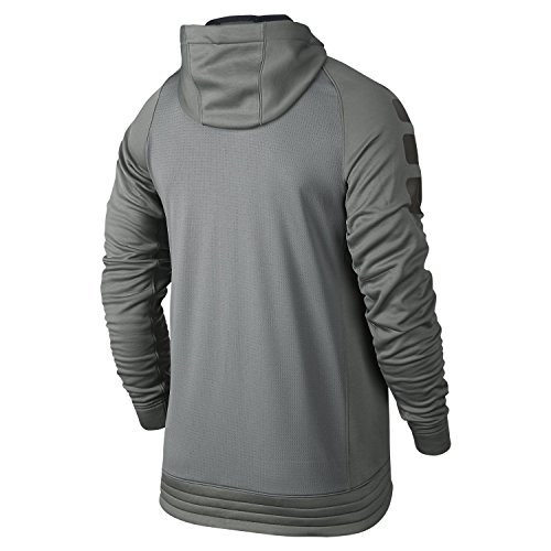 Nike Elite Stripe Hoody–Herren Sweatshirt black/dark grey/white