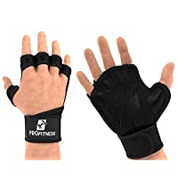 Mens Gloves Fitness Workout Glove with writwrap for Lifting Pullup trainging Weightlifting Work oit Protection Leather Weight Hand Globe Cross fit pullups glive with Comfortable Grip (Whit,M)