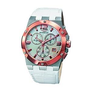Sandoz 81258-50 – Reloj de Mujer de Cuarzo, Correa de Piel Color