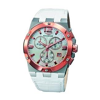 Sandoz 81258-50 – Reloj de Mujer de Cuarzo, Correa de Piel Color Blanco