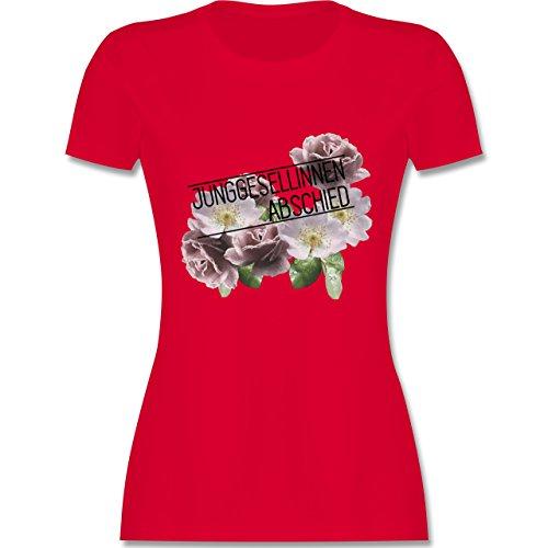 JGA Junggesellinnenabschied - Blumen Junggesellinnenabschied - tailliertes Premium T-Shirt mit Rundhalsausschnitt für Damen Rot