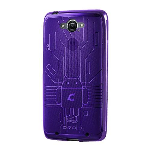 CruzerLite DTurbo-Circuit-Purple Bugdroid Schluss Schutzhülle für Motorola Droid Turbo lila
