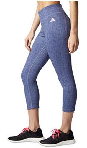 Da donna Adidas ClimaLite studio 3/4lunghezza Active tight Capri Raw Purple Print